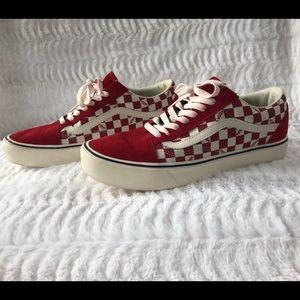 Red Checkered Ultracush Vans